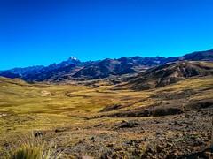 The landscape near Oyon Peru was very open.