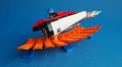 Y Beic (David Roberts 01341) Tags: lego speederbike space scifi minifig minfigure racing brickseparator
