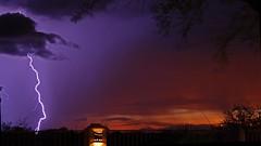 Lightning - Thunder and Sunset (jerryelling) Tags: coronadetucson lightning thunderstorm arizona landscape sunset thunder monsoon monsoonseason desert storm electricalstorm summerevening patioview southeastarizona westernsky lightningstrike