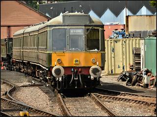 09.07.17 Minehead Station..DMU Class 115 Derby Suburban Unit