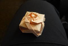 New box [WIP] (Michał Kosmulski) Tags: origami box tessellation wip workinprogress queen royal bos50 michałkosmulski copypaper pink