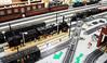 N&W A and Y6b on PennLUG's layout at Greenberg train show in Harrisburg PA (Cale Leiphart) Tags: nw train lego rr railroad railway steam locomotive aclass 1218 y6b 2882 norfolkwestern 2200