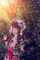 SDF_9683 (SendoFu) Tags: bonnet lolita ボンネット エプロン風スカート blouse bl ブラウス headbow kc カチューシャ bnt 蕾絲 維多利亞 jsk op onepiecedress ワンピース jumperskirt ジャンパースカート nop lolitafashion 蘿莉塔 蘿莉塔時裝 ロリータ・ファッション sweetlolita classicallolita