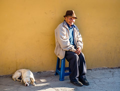 Old Friends (tritranla) Tags: candid dog man people peru portrait streetphotography travel