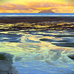 Digital Oil Painting of Bream Bay by Charles W. Bailey, Jr. thumbnail
