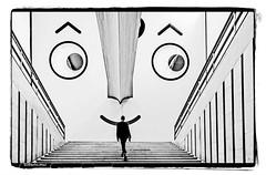 MILAN IN TRIENNALE!! (Roberto.mac.) Tags: milano triennale bw fantasiadelbw citta scale diagonali robertomac scatto al volo