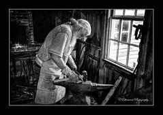 The Village Smith (windshadow2) Tags: black smith village iron works blackandwhite natural light window nikon