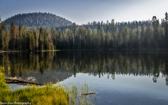 Summit Lake Reflection (NormFox) Tags: california calm lake lassen mountains outdoors park quiet reflection rocks serene summit trees volcano water