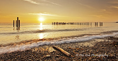 Sunset at Lighthouse Marine Park, Point Roberts WA (PhotoDG) Tags: sunset sun color sky cloud lighthousemarinepark pointroberts beach wave water driftwoods