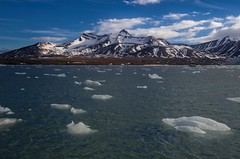 Kvævefjellet (dougbank) Tags: mountains svalbard spitsbergen water snow ice cold hdr geology arctic norway