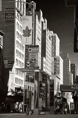 Neighborhood - East 23 Street, N of Grammercy (sjnnyny) Tags: sigma1770mmf284contemporarydcmacrooshsm east23street manhattan streetsceneblockfronts cityscape urban sidewalk nylife grammercy flatiron stevenj sjnnyny pentaxkp signage bustop highrises apartmentbuildings