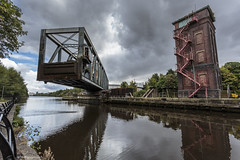 What did the Victorians ever do for us?... Part 2 (andyrousephotography) Tags: whatdidthevictorianseverdoforus victorian bartonuponirwell bartonswingaqueduct aqueduct bridgewatercanal waterways swing pivot open manchestershipcanal controltower island andyrouse canon eos 5dmkiii 5d3 ef1740mmf4l