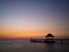 Ao Noi Beach, Koh Kut (TeunJanssen) Tags: kohkood kohkut thailand southeastasia asia island beach backpacking travel traveling olympus omd omdem10 ocean sea sunset goldenhour nd110 longexposure pier aonoi paradise