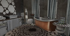 Seclued Bathroom (eleanora scribe) Tags: 22769 go fancydecor trompeloeil pixelmode merak digs nomad pm kaerri keke