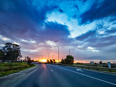 Roadside Sunset (Thunder1203) Tags: aurorahdr canonaustralia canoncollective canoneos80d cityofcasey sky sunset cranbourne hdr photomatix sun victoria australia au