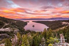 High Above Emerald Bay (Ben Sheriff Photography) Tags: emeraldbay sunset laketahoe tahoe california northerncalifornia desolationwilderness sky clouds sierranevadamountains eldoradocounty hike highway89 southlaketahoe