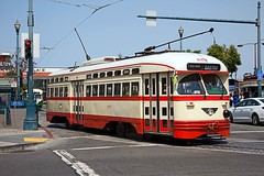 F Line, San Francisco, September 2014 (David Rostance) Tags: pcc streetcar tram trolley muni fline sanfrancisco 1079 marketstreetrailway