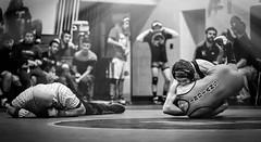 Pin (Darren LoPrinzi) Tags: 5d bt canon5d btwrestling canon miii sports township wrestling action pano burlingtontownship nj newjersey alex highschool sport pin mono blackandwhite blackwhite bw ref referree