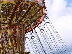 Vintage swing carousel-Firle Vintage Fair (Lauren Taliana) Tags: elements flickr vintage fairground england english old rides vintagefair vintageride fairgroundride swingingchairs