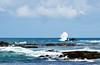 pescador solitário II (Ruby Ferreira ®) Tags: fisherman atlanticocean oceanoatlântico praiaoceânica lowtide marébaixa splash rocks cçouds sky pescador