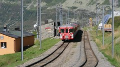 Nätschen - Matterhorn Gotthard Bahn (Kecko) Tags: 2017 kecko switzerland swiss schweiz suisse svizzera innerschweiz zentralschweiz uri nätschen oberalp pass oberalppass matterhorngotthardbahn railway railroad mgb glacierexpress eisenbahn bahn bahnhof station train zug swissvideo video geotagged geo:lat=46642540 geo:lon=8613100