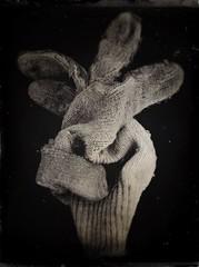 working class hero-11190 (Poetic Medium) Tags: gloves stilllife blackandwhite rni kitcamghostbird snapseed possession ipod
