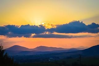 Amazing sunset above my hometown...