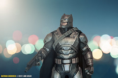 Batman Armored (I AM LESLIE) Tags: bokeh dccomics cosplay portrait prime 58mm nikkor d810 d800 nikon justiceleague batmanvsuperman batmanvssuperman toys hottoys batmanarmored batman bokehwhores
