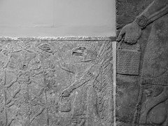 Assyrian Galleries-British Museum (Chris Draper) Tags: monochrome blackandwhite assyria assyrian sculpture reliefs museum archaeology britishmuseum carved carving carvedpanel stone mythical mythology culture ancientculture