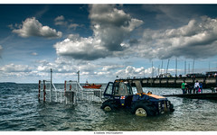 Boat--RNLI--Tractor (Kevin HARWIN) Tags: rnli save lives sea water wet waves beach sand rocks stones tractor boat people canon eos 1755mm lens whitstable bubble south east kent uk england britain wheels sky blue clouds