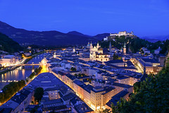 Salzburg in the evening, Austria (Frans.Sellies) Tags: img9449 austria autriche österreich oesterreich oostenrijk salzburg night clear