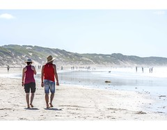 Summer Days (red stilletto) Tags: oceangrove oceangrovebeach oceanbeach bellarinepeninsula summer sand sea ocean water