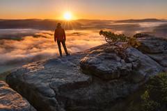 lilienstein sunrise (Alexander Lauterbach Photography) Tags: lilienstein sunrise landscape fog nature sony sunstar saxon switzerland sächsische schweiz elbsandstein a7r a7rii lilienstone