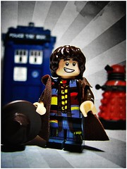 Number 4 (LegoKlyph) Tags: lego custom doctor who 4th tom baker fourth 80s classic best time travel tardis dalek scarf nerd geek scifi mini figure block bricks