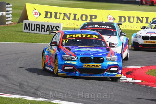 Andrew Jordan in BTCC action at Snetterton, July 2017