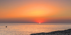 Menorcan Sunset July 11 (nicklucas2) Tags: menorca capdartrutx sunset sun travel seascape sea boat