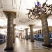 Metro trains at Avtovo station in Saint Petersburg, Russia