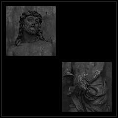 5 - Dieppe - Eglise Saint-Rémy (melina1965) Tags: normandie seinemaritime août august 2017 nikon d80 mosaïque mosaïques mosaic mosaics collages collage noiretblanc blackandwhite bw macro macros église églises church churches sculpture sculptures dieppe