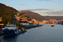 Bergen Sunset (Woody H1) Tags: harbor bergen norway baltic europe travel viking ocean