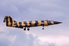 104761 Greenham Common 26-6-1981 (Plane Buddy) Tags: 104761 cf104g starfighter canada caf 439sq tiger striped greenham