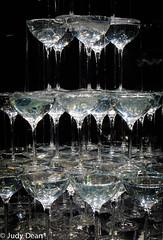 Champagne Fountain (judy dean) Tags: judydean 2017 champagne glasses fountain installation art