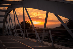 Say goodbye (Mariano Colombotto) Tags: sanmigueldetucuman tucuman argentina bridge puente sunset atardecer urban city sky cielo nubes clouds sun sol nikon photographer photography autofocus infinitexposure