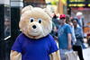 Bear Candid (Andy Marfia) Tags: chicago loop statestreet bear mascot costume candid crowd street d7100 70300mm 1640sec f8 iso4500