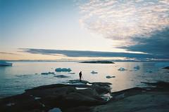 Midnight Sun (André Terras Alexandre) Tags: film analog 35mm ilulissat diskobay greenland icebergs midnight sun