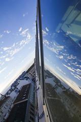 Reflection Window (CoolMcFlash) Tags: window reflection canon eos 60d sky blue cloud vienna architecture building glass fenster spiegelung himmel blau wolken wien architektur gebäude glas fotografie photography sigma 1020mm 35 opticalillusion roof dach modern