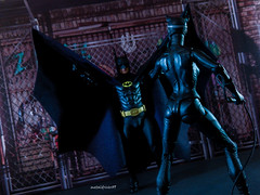 The Bat and the Cat (metaldriver89) Tags: batman 1989 batman1989 timburton tim burton michael keaton 25th anniversary action figure figures neca 7 inch actionfigure shadows dc movie comics toys custom cape acba display update indoor hottoys hot batmanneca blackandwhite brucewayne bruce wayne articulatedcomicbookart articulated comic book art tonymei tony mei customcape toy toyphotography toybiz dcmultiverse kenner darkknightcollection extreme extremesets sets batmanreturns catwoman selinakyle selina kyle
