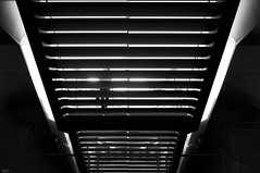 Is there a Stairway to heaven (René Mollet) Tags: stairway upstairs street streetphotography woman silhouette streetart station streetphotographiebw sbb candite renémollet urban urbanstreet monchrom archidektur architecture
