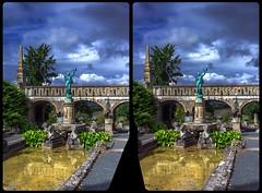 Romantic castle park 3-D / Stereoscopy / CrossView / HDR / Raw (Stereotron) Tags: sachsenanhalt saxonyanhalt ostfalen harz mountains gebirge ostfalia hardt hart hercynia harzgau europe germany crosseye crosseyed crossview xview cross eye pair freeview sidebyside sbs kreuzblick 3d 3dphoto 3dstereo 3rddimension spatial stereo stereo3d stereophoto stereophotography stereoscopic stereoscopy stereotron threedimensional stereoview stereophotomaker stereophotograph 3dpicture 3dglasses 3dimage hyperstereo twin canon eos 550d yongnuo radio transmitter remote control synchron kitlens 1855mm tonemapping hdr hdri raw 3dframe fancyframe floatingwindow spatialframe stereowindow window