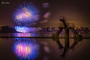 Firework of Dinard (A.S photographie) Tags: sea reflection fireworks swimingpool reflet france bretagne brittany ocean city beach night nightscape nikon d610 saintmalo lights color photographer watermiror dream beautiful