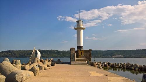 Lighthouse, Port of Varna, Bulgaria